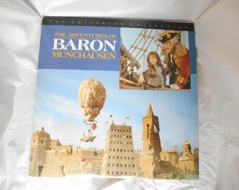 The Adventures of Baron Munchausen Laserdisc Criterion Collection Fine Condition 715515001977 3 Discs 1992