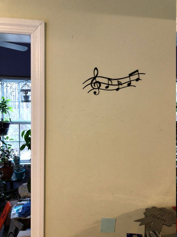Musical Notes on Staff CNC metal sign/wall art for music