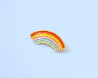 Rainbow enamel pin - brooch