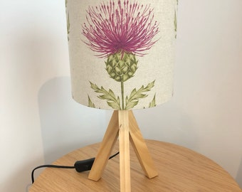 Pink Thistle Lampshade (20cm)