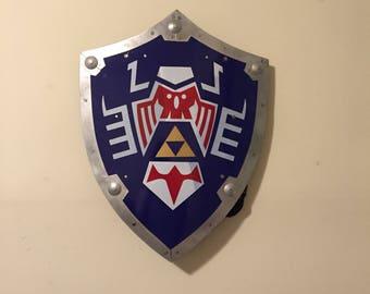 Legend of Zelda Steel Majora's Mask Link's Triforce Hylian Shield Real Metal Replica