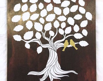 Personalised Wooden Signing Tree, Alternative Guest Book, Wedding Signing Tree
