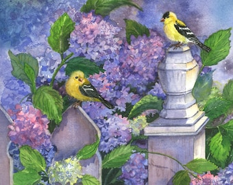 Spring Finches, Giclee Print