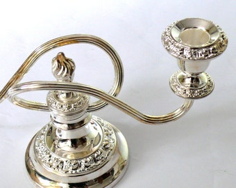 Vintage Candelabra Silver Plated Traditional English Made in England by IANTHE Never Used Still in the Box - Great Gift