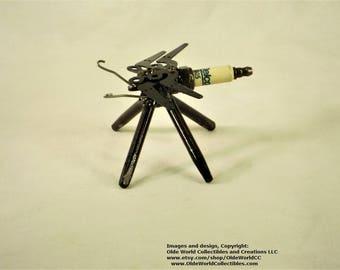 Welded Steel Industrial Steam Sculpture ~Dragonfly Minnie~ Little Antenna's