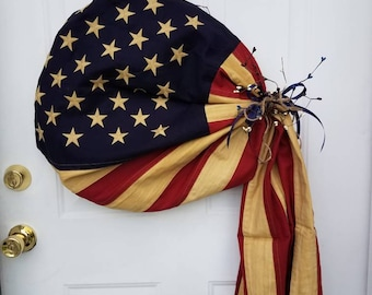 Primitive Flag Wreath