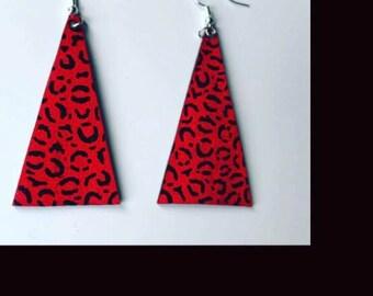 Leopard Print earrigs - Triangular