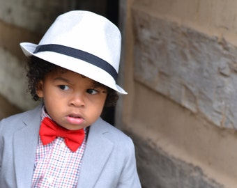 Red Bow Ties for Boys - Red Tie -  Baby Bow Ties - Designer Bow Ties for Kids - Outfit for Wedding - Ring Bearer Toddler Bow Ties - Pre-Tied