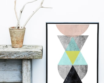 Abstract Poster, Abstract Art Print,  Printable Art, Instant Download, Scandinavian Art, Geometric Art, Abstract Wall Art, Home Decor