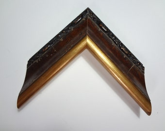 """Custom Wood Frame, Red and Gold, 2 3/8"""" Wide, Made to Order"""