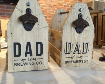 SALE 6 pack holder, beer carrier, wood beer caddy, dad gift, personalized beer caddy, dad, fathers day gift