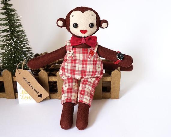 Monkey Toy | Jungle Animals | Monkey Kawaii | Toy For Kids | Soft Toy | Plush Toy | Handmade Monkey Toy | Gift | Handmade Animal | Monkey