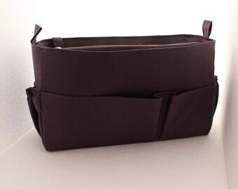 Purse organizer Fits large Longchamp Le Pliage- Bag organizer insert in Gray