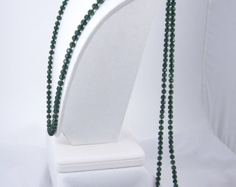 2-Strand Forest Green Swarovski Crystal &  Gold-Filled Beads with 14K Gold-Filled Clasp