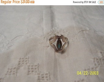 SUMMER SALE 20% OFF, Vintage Avalone Ring. Sterlling Silver.