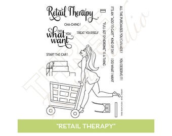 "TRS ""Retail Therapy"" Clear Stamp set"