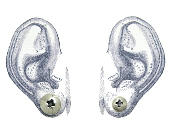 PICK TWO polished Silver Screw Head Stud Earrings for Men and Women. Sterling Silver Hardware Stud Earrings. ONE pair two different studs.