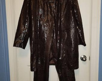 Faux Crocodile Suit