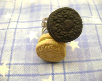 Adorable Mini Oreo Adjustable Rings