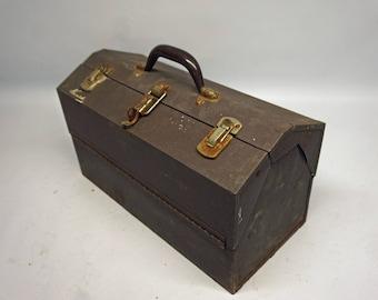 Vintage Kennedy Kits Fishing Tackle Box, Metal Tacklebox, Toolbox, Tool Box, Shabby Chic, Rusty