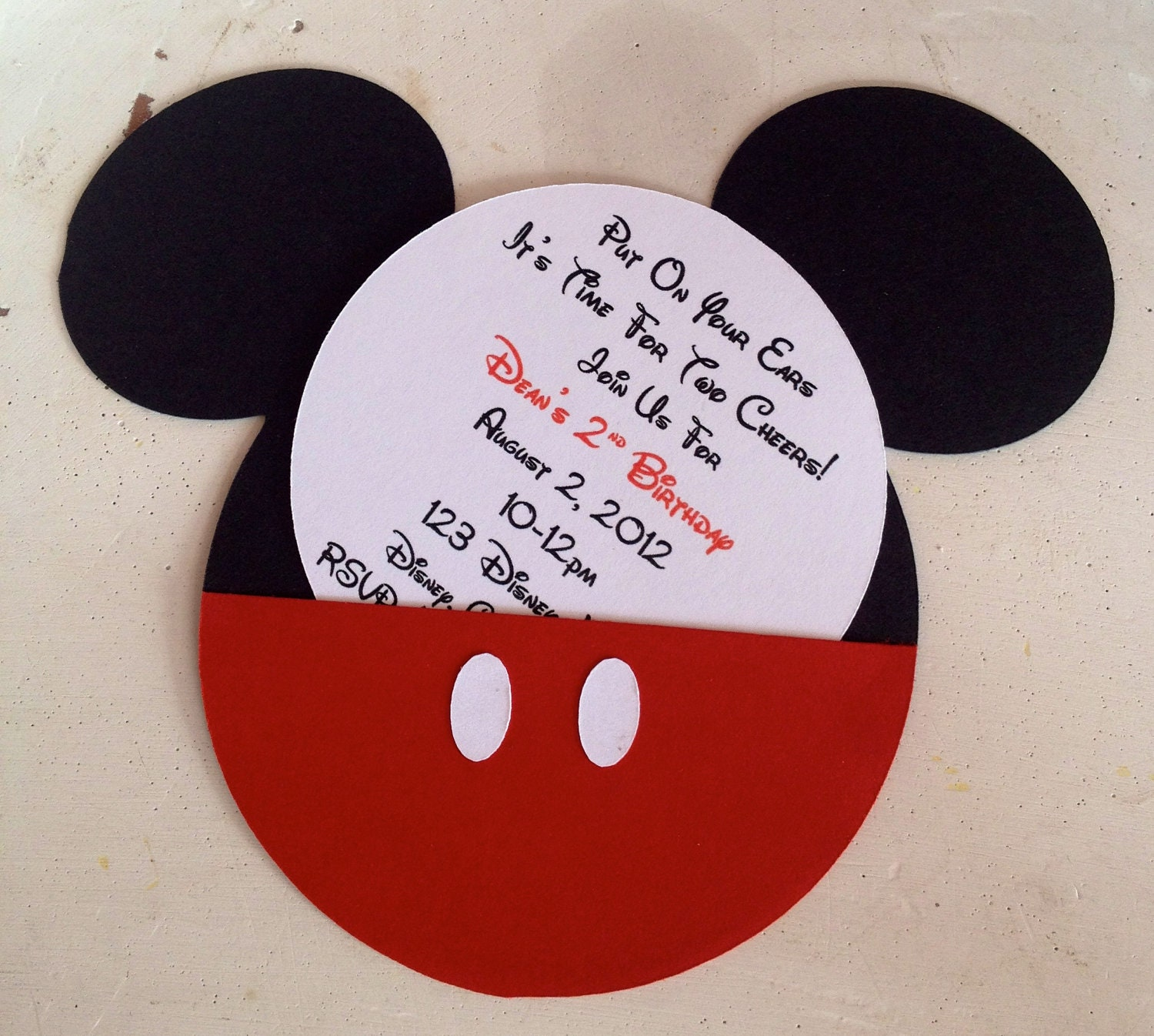 personalized mickey mouse invitations - Roho.4senses.co