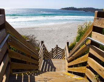 Steps to Paradise, Ocean, Stairs, Carmel-by-the-Sea, Pebble Beach, Central Coast, California
