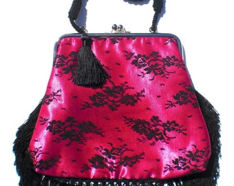 Couture Vintage Jet Set inspired Handbag. Handmade in the USA- Boudoir Baby