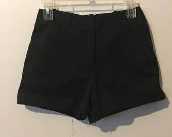 High Rise Black Shorts 27W