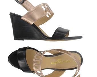 Wedge leather sandals, Open toe wedges, Black leather wedges, leather wedge sandal, Italian made leather shoes, Cape Town