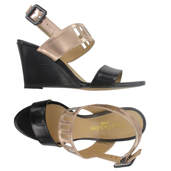 Italian wedges made sandal Cape Black Town sandals leather wedges toe Wedge leather leather wedge shoes leather Open wqPPI7U