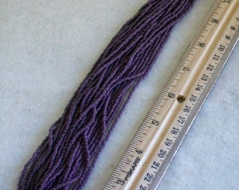 Purple opaque seed bead  Size 11 glass beads  Purple beads