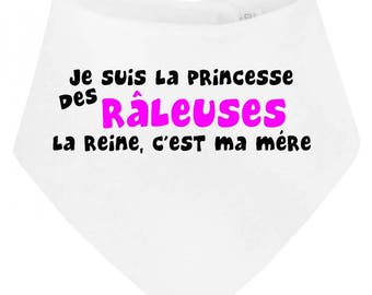 Funny baby bib bandana I'm the Princess Queen don't...