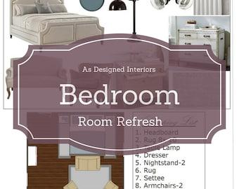 Online Interior Design: Bedroom E-Design. Room Refresh. Online Decorating.