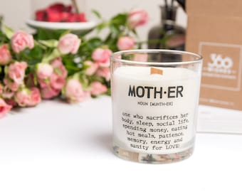 Natural Soy Wax Candle, Scented Candle, Quote Candle, Mothers day, Gift for Mum, Home Fragrance, Wedding gift