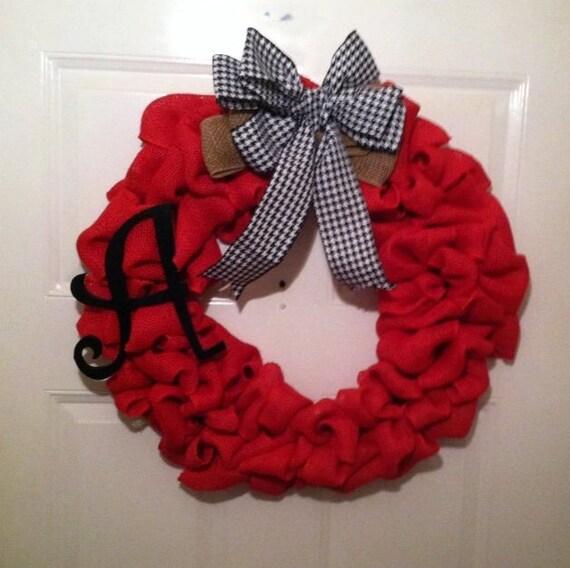 Everyday Wreath - Front Door Wreath - Roll Tide - Crimson Tide - SEC Football - SEC - Sports Wreath - Alabama - Bear Bryant - Nick Saban