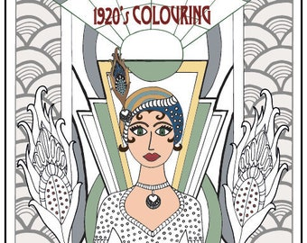 Courageous & Quirky 1920's Colouring Book