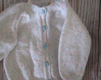 knit baby sweater - 0 - 6 months