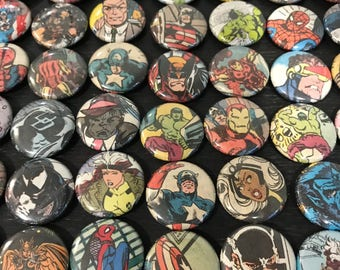 Comic Book Magnets, Round Magnets, One Inch, Superhero Magnets, Magnet Sets, Marvel Magnets, Small Round Magnets, Marvel