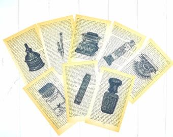 Stationery Vintage Pages /Vintage Book Pages / Vintage Ephemera / Ephemera Pack / Junk Journal