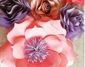 papier fleur papier flowerback goutte