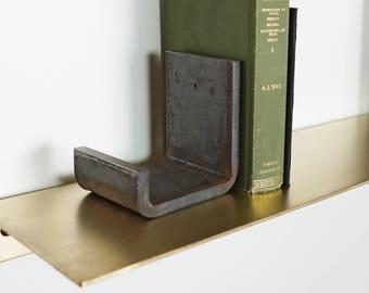 Flatform Steel Bookends - Metal Industrial Book End