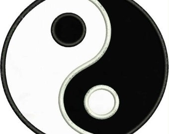 INSTANT DOWNLOAD Ying Yang Applique designs