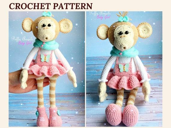 Pattern Monkey Bonnie Crochet Toys Amigurumi Monkey Animal Crochet