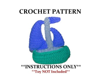 Crochet sailboat etsy crochet sail boat pattern toy not included dt1010fo