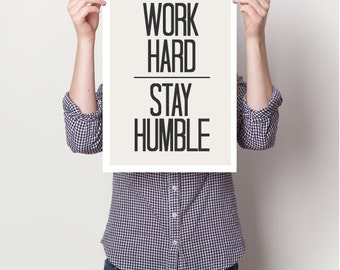 Inspirational quotes, quote prints, quote posters, happy art, typography poster, work , positive quotes, work Art Print