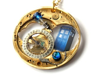 """Doctor Who Necklace """"The Engine of the TARDIS"""""""