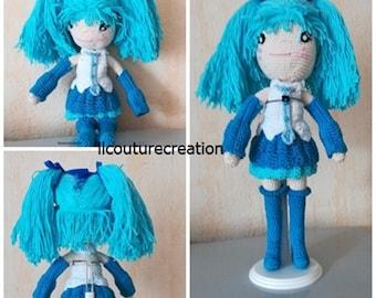 manga doll crochet cotton