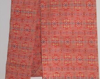 Kasuri Wool Pink Obi Sash