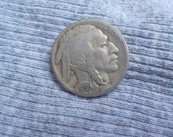 Buffalo nickel or Indian Head nickel 1936