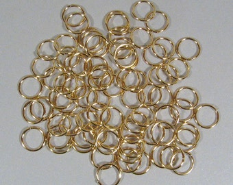10mm Gold Plated Jump Rings